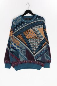 EMAROO - vintage-muster-schurwoll-pullover aus reiner schurwolle - L