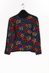 YVES SAINT LAURENT variation - strick-pullover mit leo-print - S
