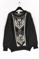 Alafoss of Iceland - vintage-ethno-pullover aus reiner schurwolle - M