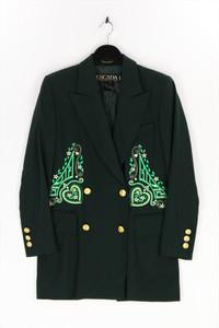 ESCADA MARGARETHA LEY - vintage-blazer aus reiner schurwolle mit stickereien - D 36