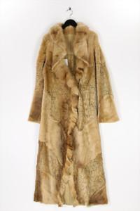 Dolce Rebecca - echt-pelz-mantel im boho-stil mit cut-outs - D 38-40
