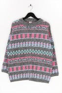 Ohne Label-Vintage-Strick-Pullover -S