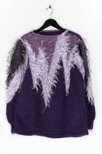 Ohne Label - strick-pullover mit metallic-effekt - D 42