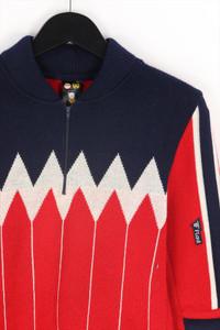 Ohne Label - vintage-rundhals-pullover mit schurwolle - 48