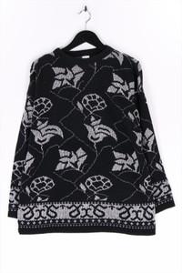 Ohne Label - strick-pullover aus woll-mix mit metallic-effekt - S