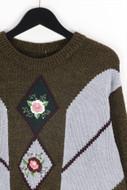 Ohne Label-Strick-Pullover mit Applikationen mit Applikationen-D 42