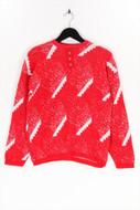 Ohne Label-Muster-Vintage-Strick-Pullover -L