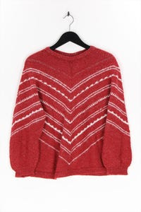 Ohne Label - strick-pullover mit metallic-effekt - M