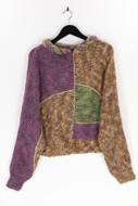 Ohne Label-Fledermaus-Pullover mit Metallic-Effekt mit Metallic-Effekt-M