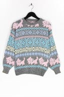 Ohne Label-Muster-Strick-Pullover -D 40