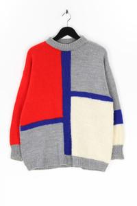 Ohne Label - strick-pullover mit karo-muster - XXL