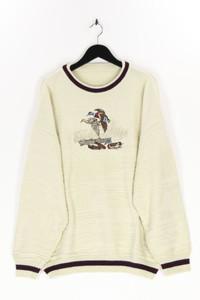 Ohne Label - rundhals-pullover mit stickereien - 56