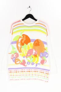 Ohne Label - muster-strick-pullover aus baumwolle - L