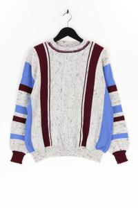 Ohne Label - fledermaus-pullover mit streifen - XL