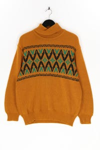 Ohne Label - muster-strick-pullover - M
