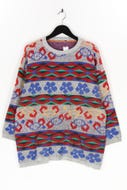 Ohne Label-Muster-Strick-Pullover -XL