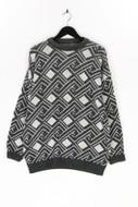 Ohne Label-Rundhals-Pullover aus Woll-Mix aus Woll-Mix-XL