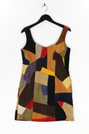 Ohne Label-Mini-Patchwork-Kleid -D 38-40