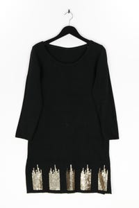 Ohne Label - strick-kleid mit pailletten - L