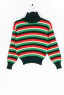 Ohne Label-Strick-Pullover mit Streifen mit Streifen-S