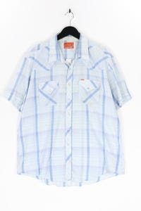 ELY PLAINS - kurzarm-hemd mit karo-muster - XXL