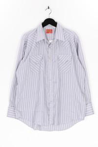 ELY PLAINS - gestreiftes hemd mit aufgesetzten taschen - XL
