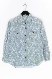 ESSENTIALS - bluse aus baumwolle mit paisley-print - M