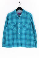 PONDEROSA - flanell-hemd aus woll-mix mit karo-muster - L