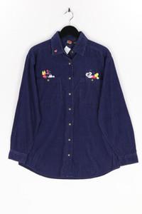MICKEY UNLIMITED - cord- hemd-bluse mit stickereien - L