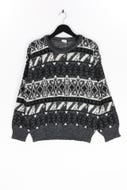 Ohne Label-Norweger-Strick-Pullover -L
