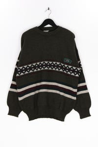 WOVE - muster- pullover mit logo-patch - XL