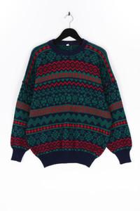 Ohne Label-Norweger-Pullover mit Wolle mit Wolle-L
