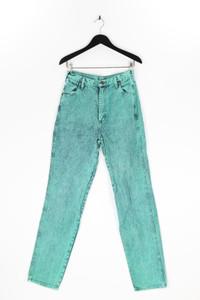 WRANGLER - moonwashed straight cut jeans mit logo-applikation - M