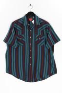 ELY PLAINS - kurzarm-hemd mit streifen - XL