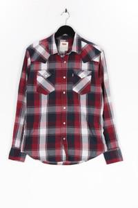 Levi´s - kariertes hemd aus baumwoll-mix mit logo-patch - S