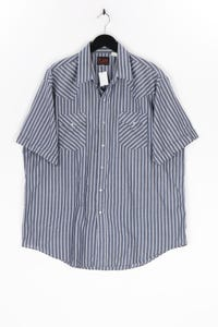 PLAINS - kurzarm-hemd mit streifen, aus baumwoll-mix - XL