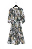 Ohne Label-Midi-Kleid mit Blumen-Print mit Blumen-Print-M