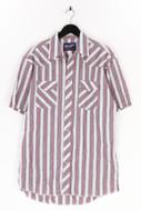WRANGLER - kurzarm-hemd mit streifen - L