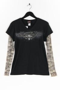 HARLEY DAVIDSON - longsleeve-shirt im layer look mit print - XL