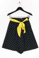 Ohne Label-Polka Dot-High Waist-Shorts mit Gürtel mit Gürtel-M