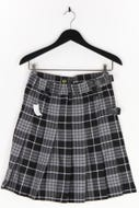 SPORT KILT - wickel-tartan-mini-rock mit logo-patch - S