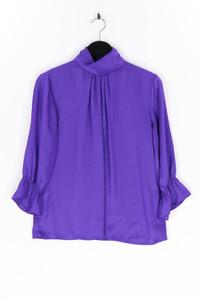 Violet & Claire - satin-bluse mit falten - S