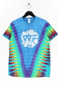 GILDAN - batik-t-shirt mit print - M