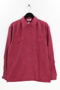Ohne Label - seiden-bluse mit aufgesetzten taschen - L