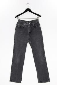 CK Calvin Klein - used look- jeans mit logo-patch - L