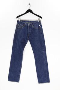 LEVI STRAUSS & CO. - dark denim straight cut jeans mit logo-patch - W31