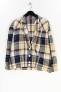 Ohne Label-80s-Blazer-Jacke mit Gummizug mit Gummizug-L