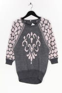 Ohne Label-Muster-Strick-Pullover mit Angora mit Angora-S