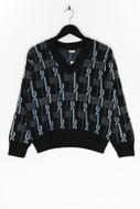 Ohne Label-Muster-Strick-Pullover mit Schurwolle mit Schurwolle-42_D 38