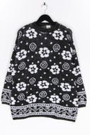 Ohne Label-Muster-Strick-Pullover -L